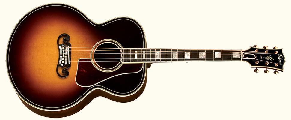 Gibson Jumbo Guitar Cream Background.jpg
