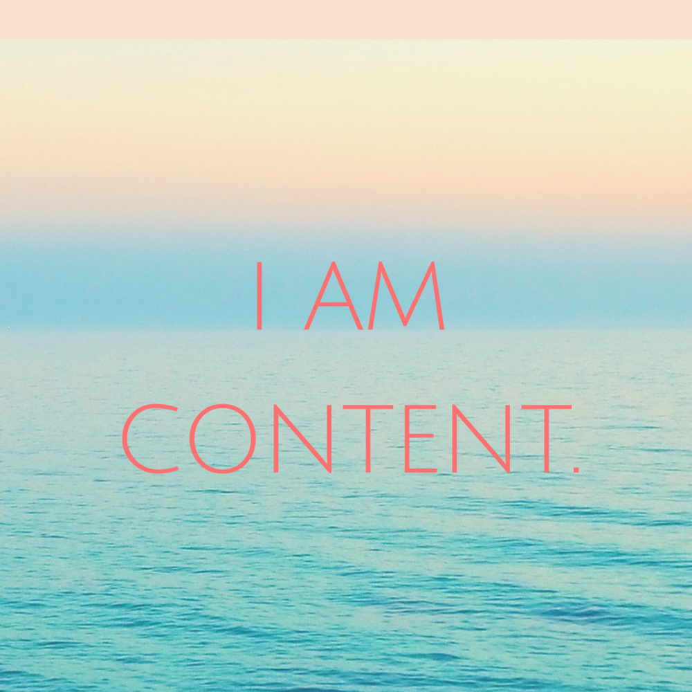 I Am Content