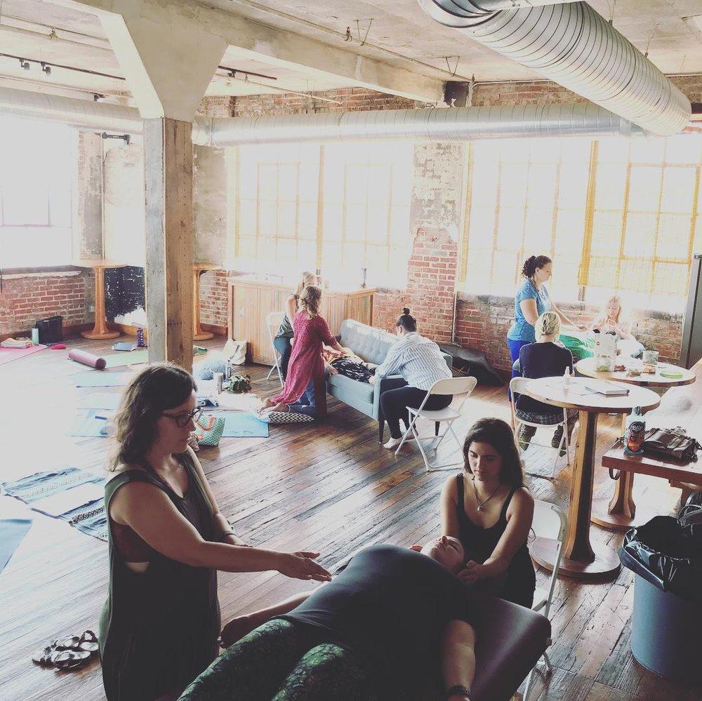 Taken at  Sarah Preu's  Reiki workshop
