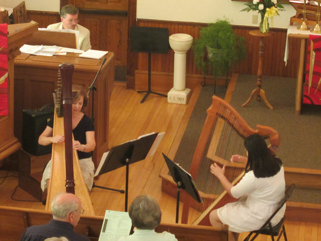 Harp duet with my teacher at Christ Lutheran Church in Marine on St. Croix.