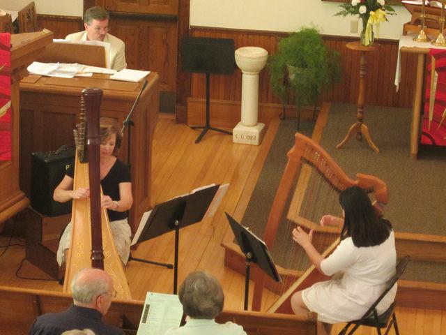 Harp duet with my teacher at Christ Lutheran Church in Marine on St. Croix.