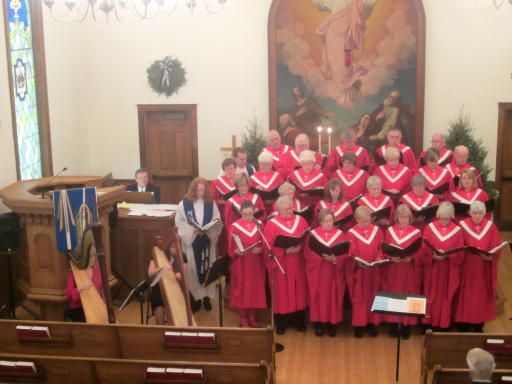 Accompanying the Steeple Singers at Christ Luteran Church in Marine on St. Croix.