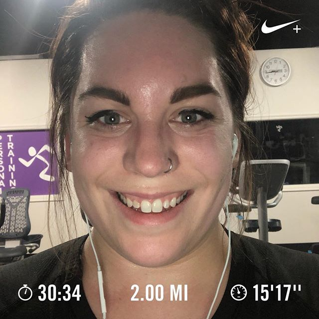 Slow and sweaty. Will I ever get back to my old pace? Lol 😂 😭 #teacherrunner #everydamnmile #beginnerrunner #nrc