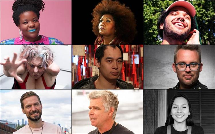 Image (L to R): Sista Zai Zanda, Emma Donovan, Alec Reade, Kath Duncan, Phuong Ngo, Bryce Ives, Steven Trosti, Dan Mitchell and Lana Nguyen.