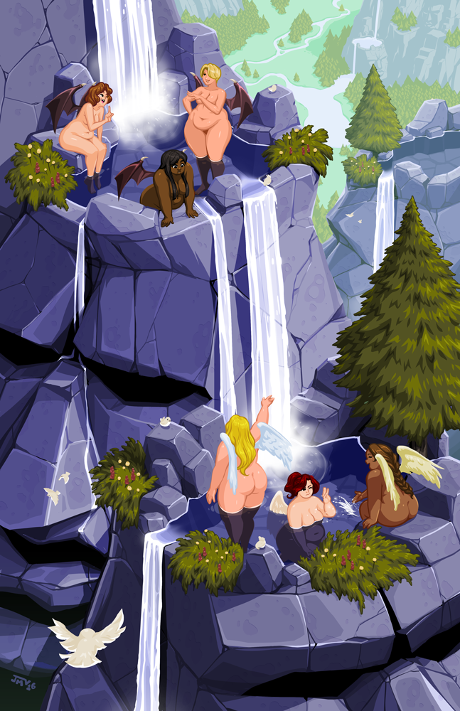 Mountain Heads and Bathing Beauties