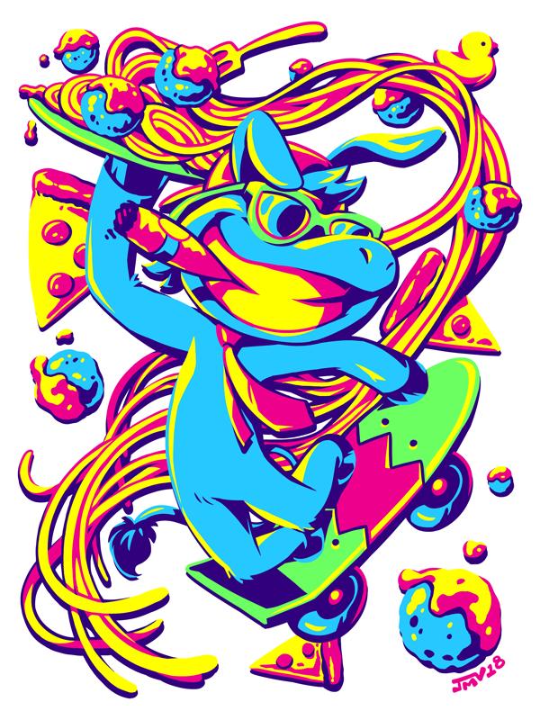 Skateboard Spaghetti