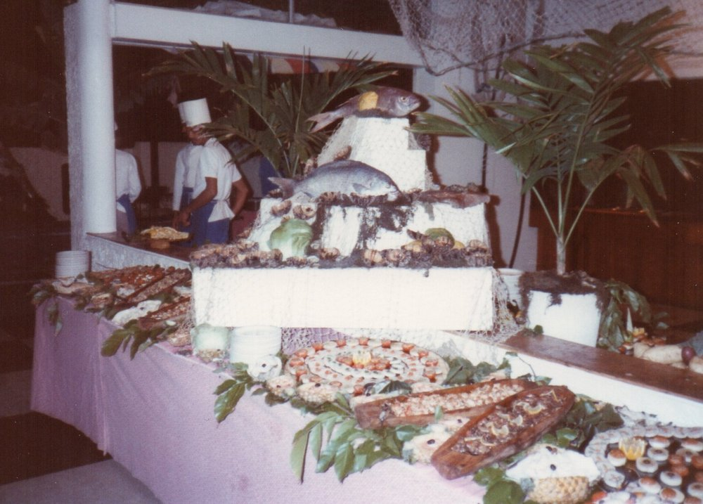 Feasting on a tropical island -