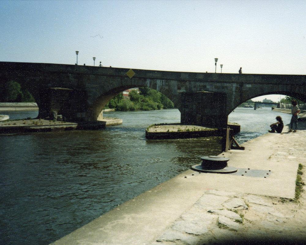 Bridge over Danube in Regensburg -