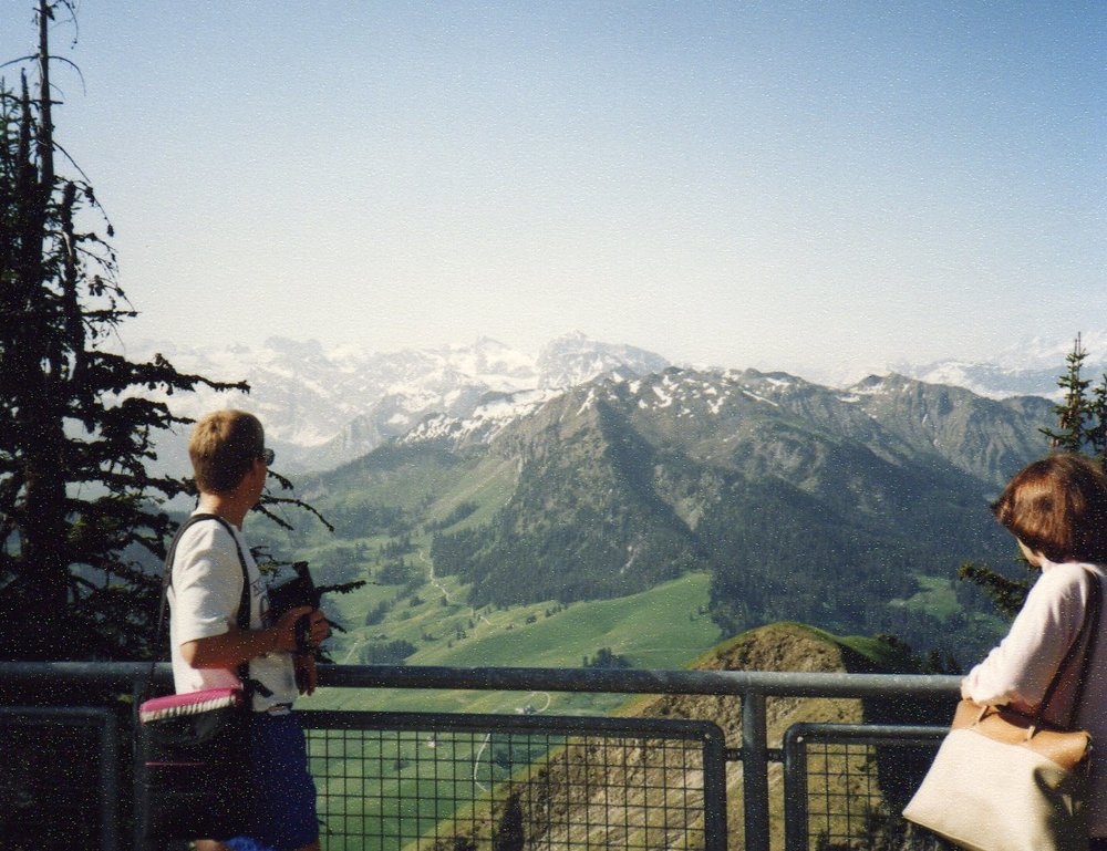Magnificent view from Mount Stanserhorn -