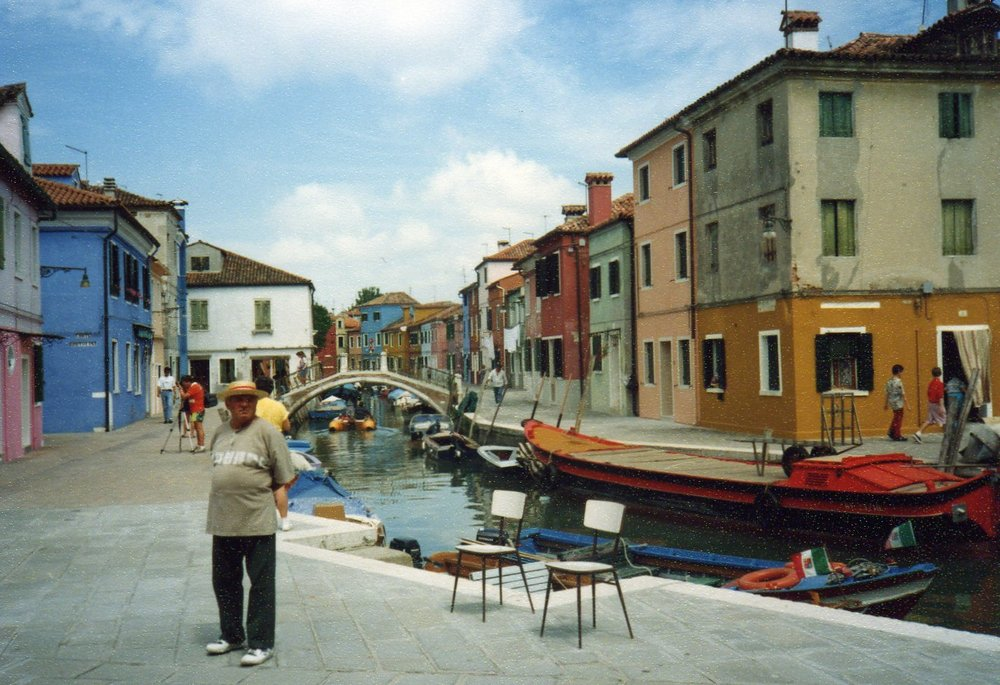 Colourful houses welcoming fishermen home -