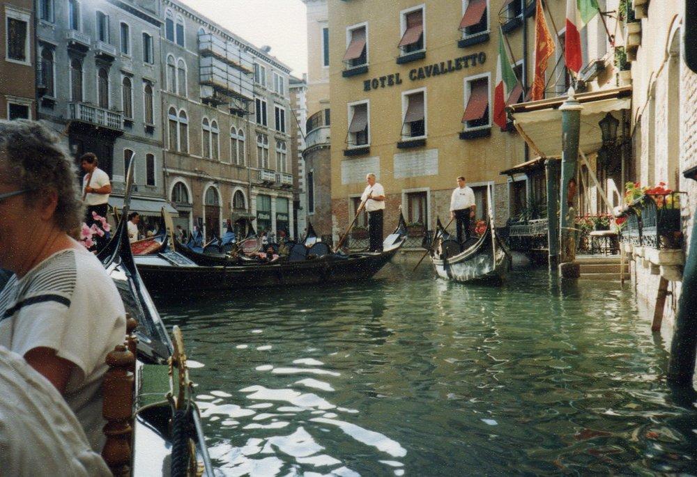 Gondola ride around Venice -
