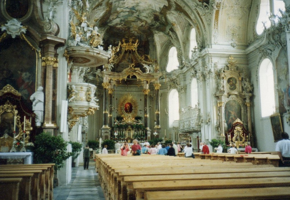 Innsbruck Cathedral ornate interior -