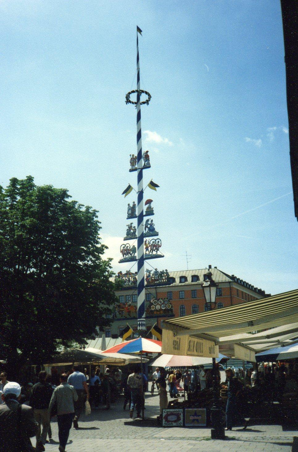 Maypole in Munich -