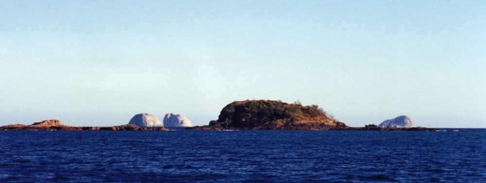 Three Sisters Islands in the background