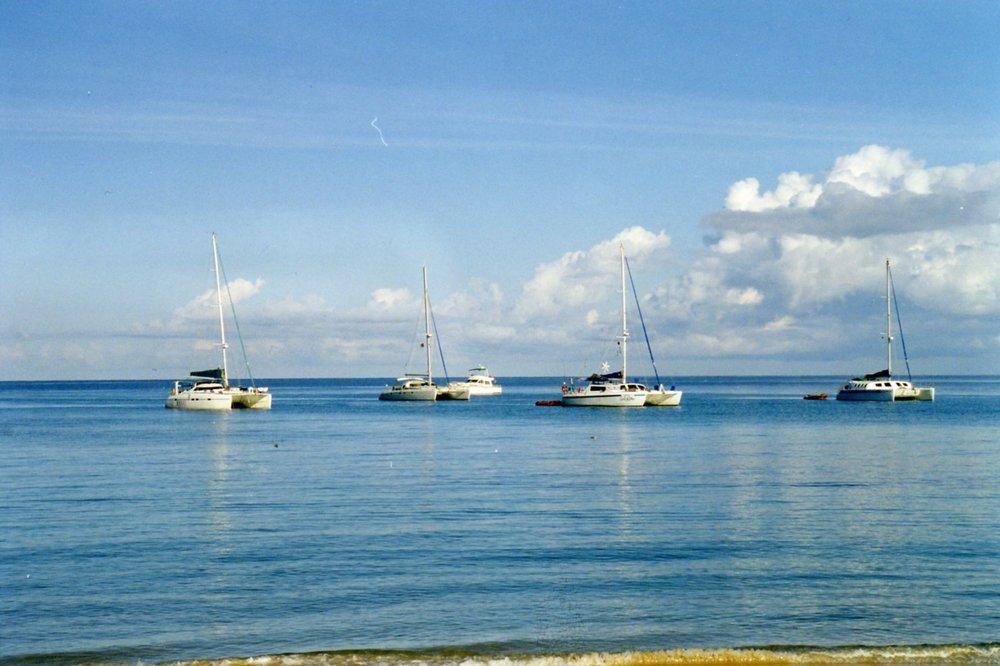 Yachts moored at Ambatoloake