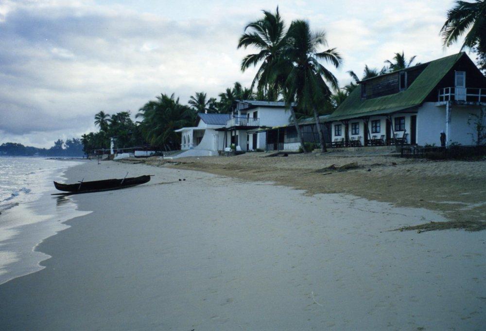Ambatoloake beach with pirogue