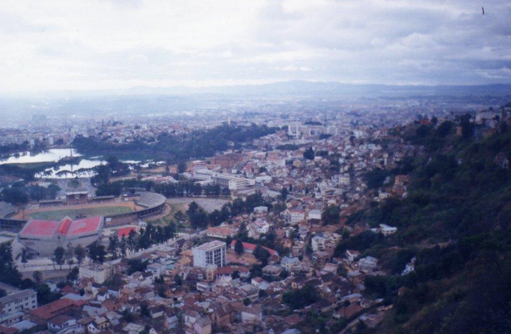 Overlooking Antananarivo from the palace area