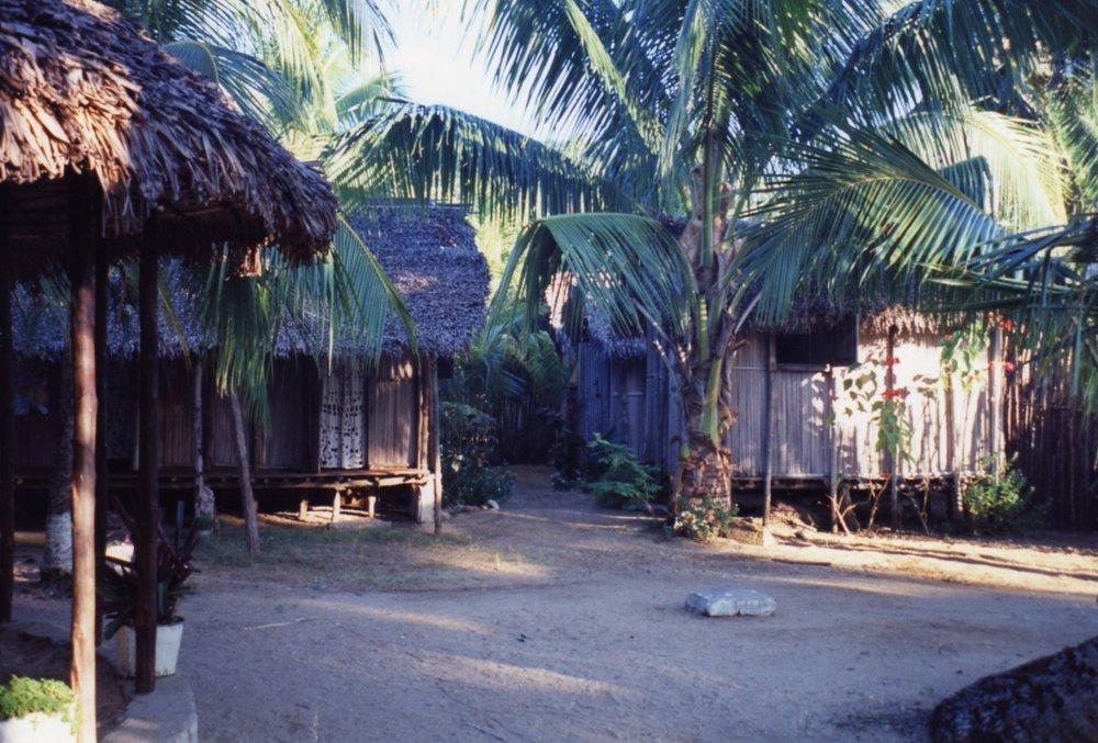 Ampangorina village - Embroidered cloths for doorways
