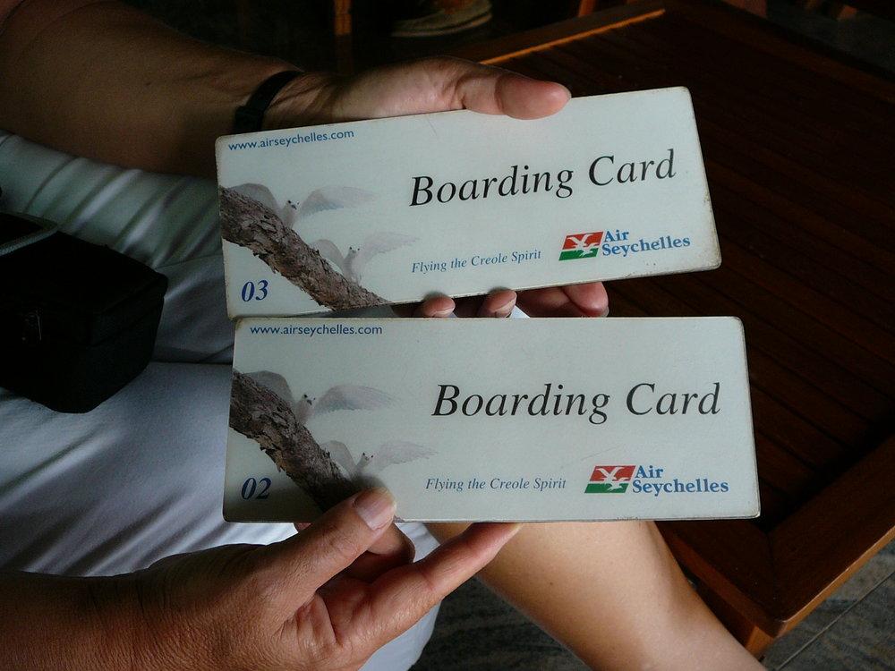 Boarding card Praslin