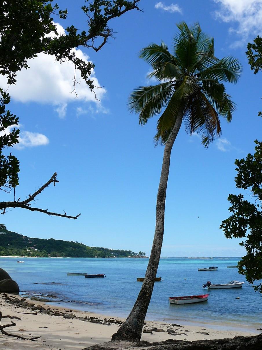 Typical bay Mahe Seychelles