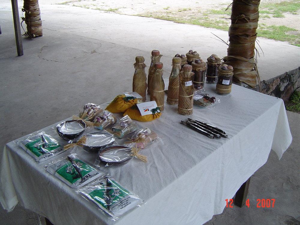 Produce from La Copa Mill Praslin Seychelles
