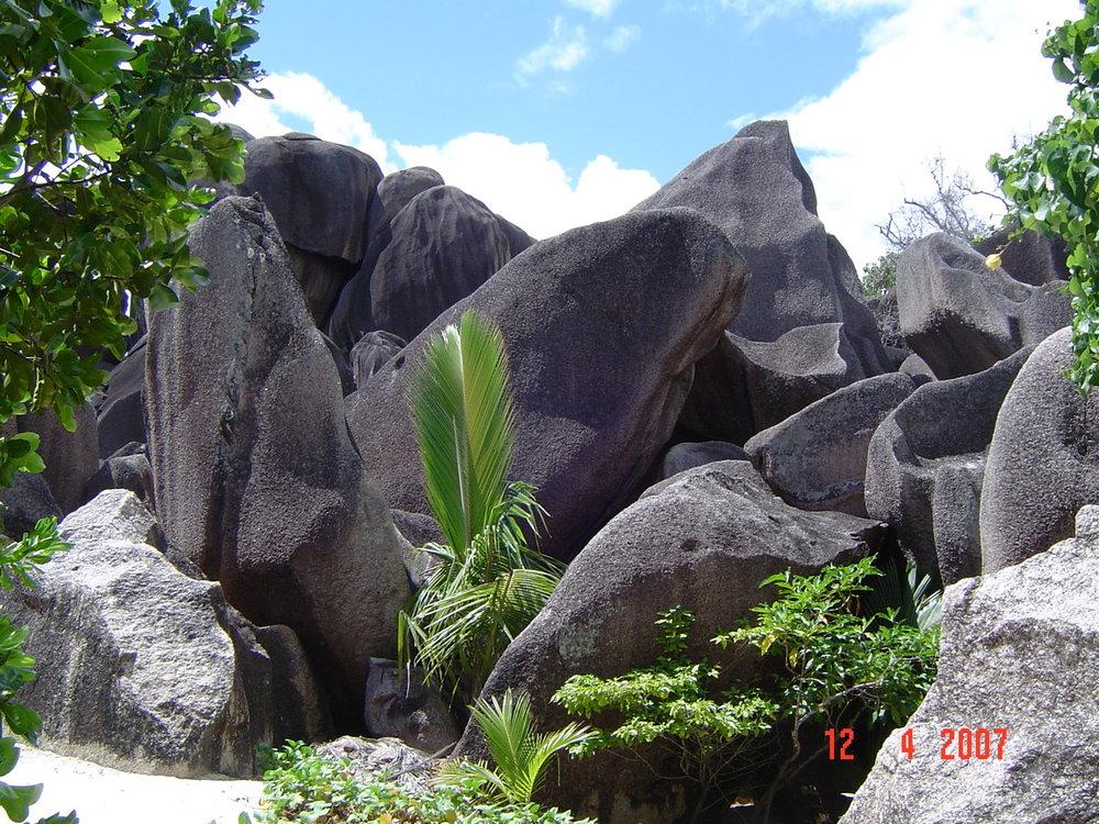 Beautiful granite outcrop