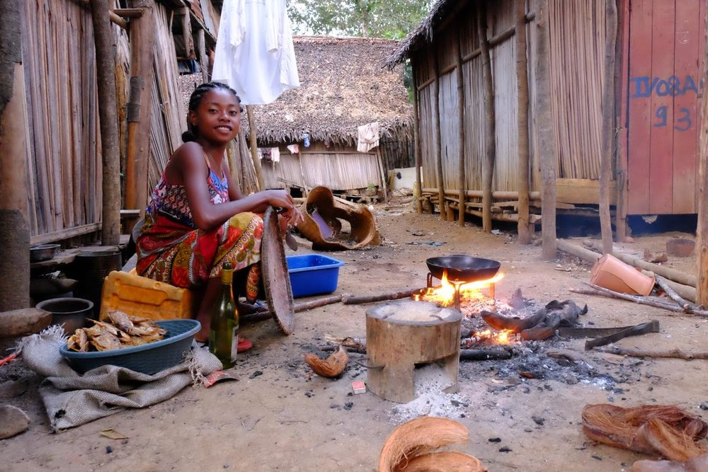 Life in a small village near Nosy Be in Madagascar.