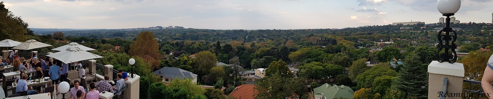 Panoramic view over the suburbs and man-made urban jungle from Westcliff Four Seasons