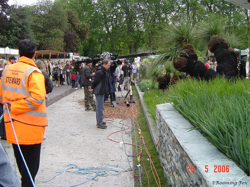 TV film crew Chelsea Flower Show 2006.JPG