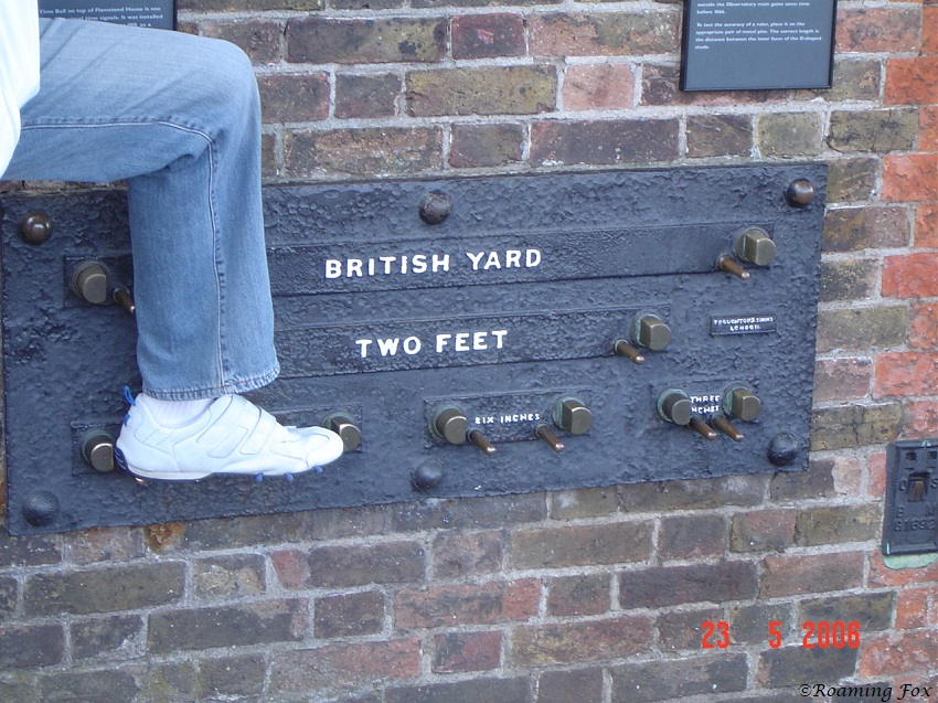 Greenwich British yard - foot size