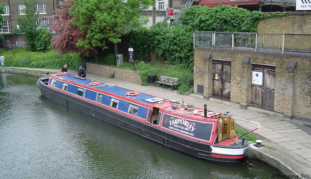 Canal boat London, moored