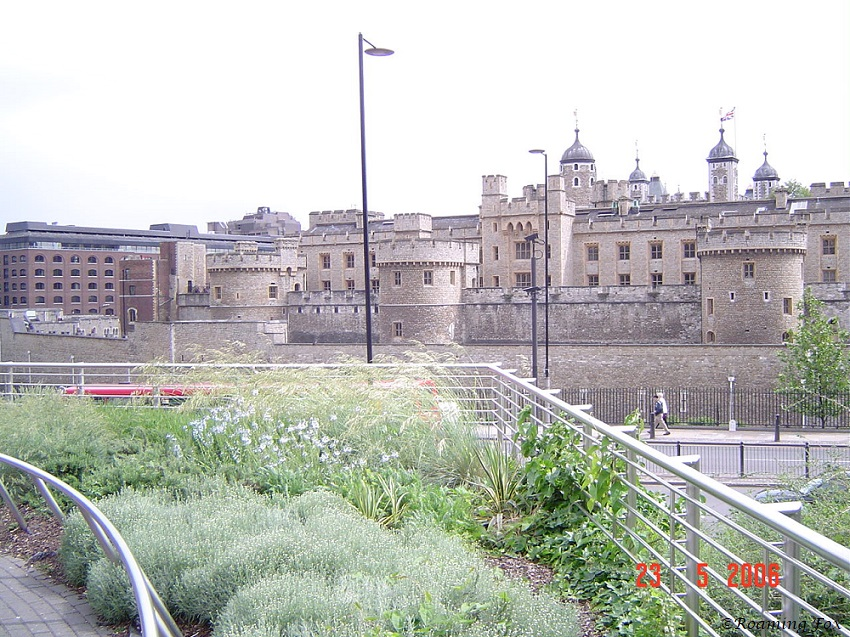 Overlooking a garden and the Tower of London