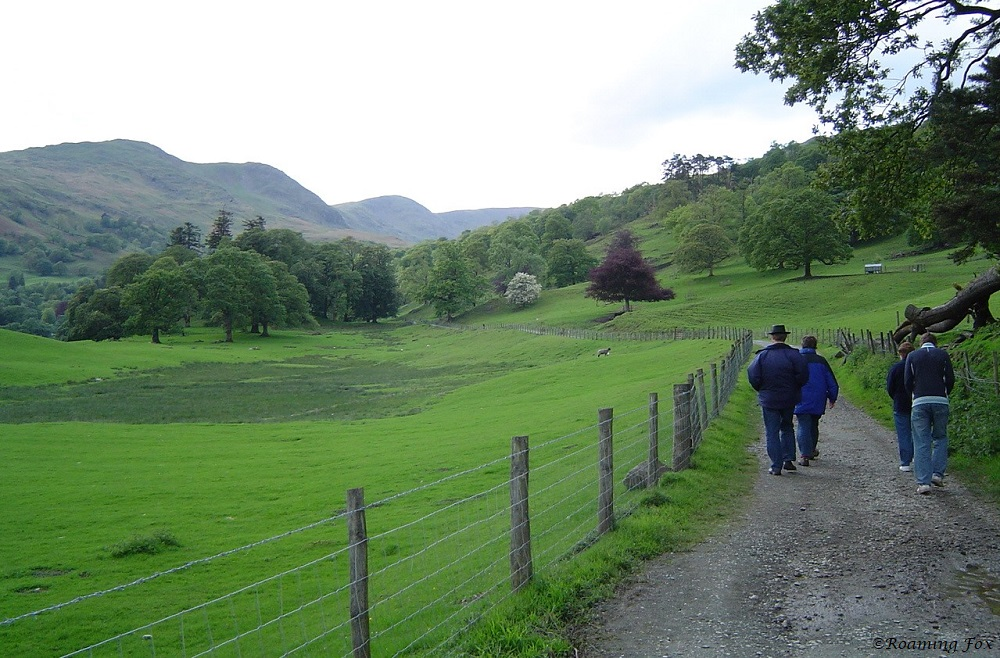 Walking in the Lake District to a pub