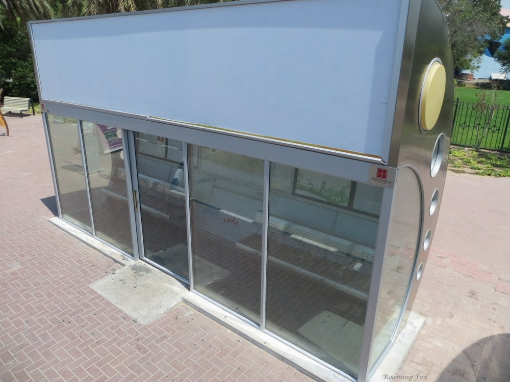 Air conditioned bus shelters in Dubai