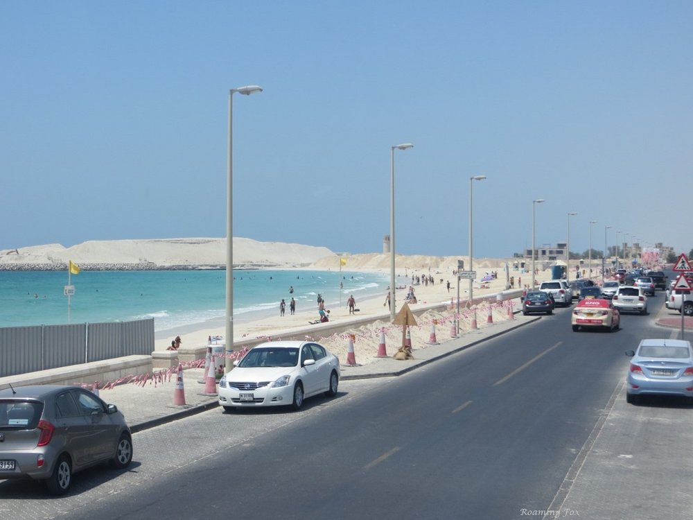One of the beaches in Dubai