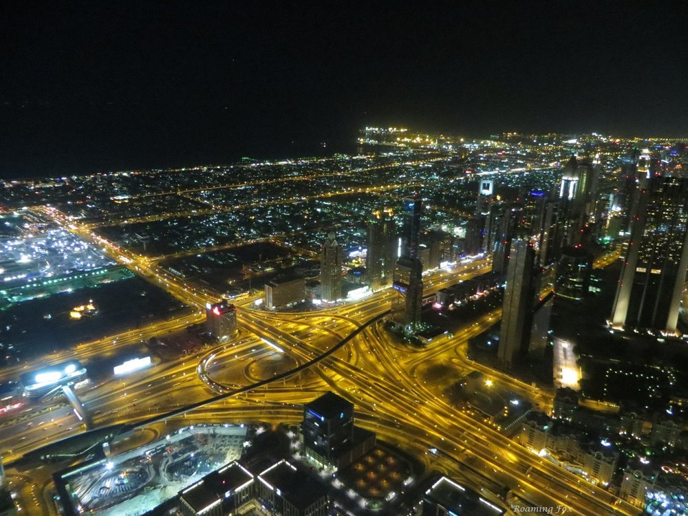 View over parts of Dubai from Burj Khalifa