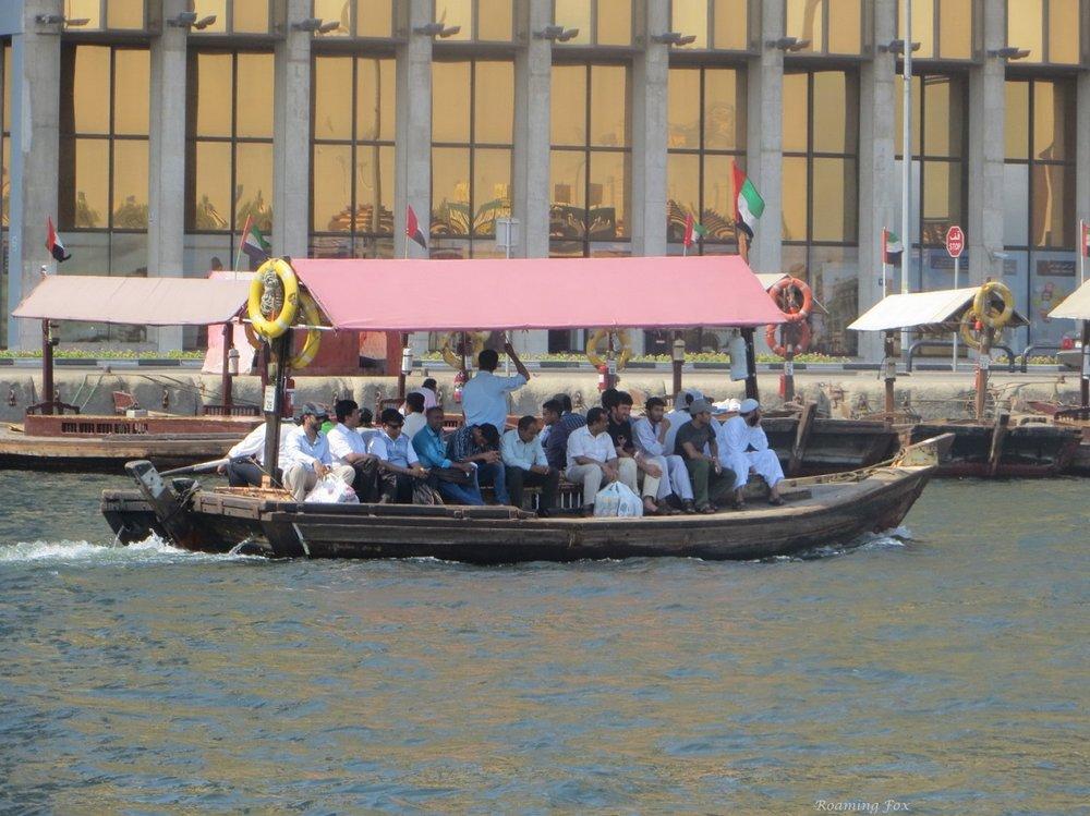 Abra - a water taxi on Dubai Creek