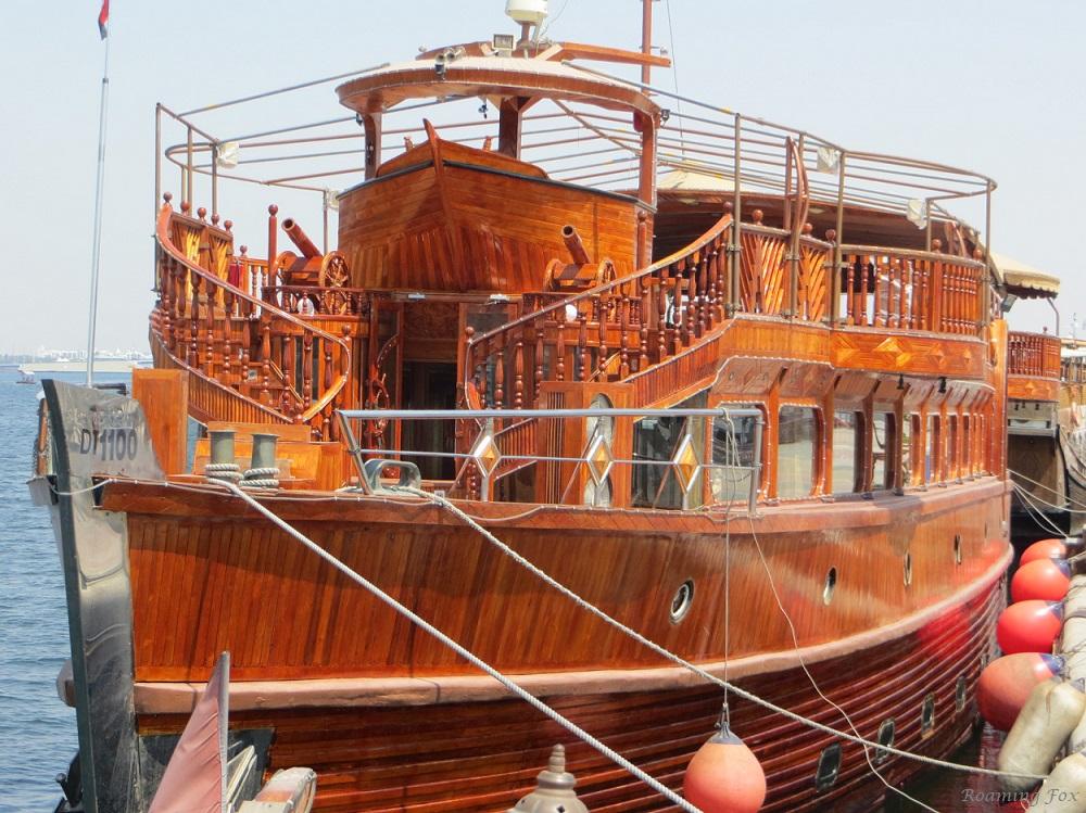 Ornate wooden Arabian dhow