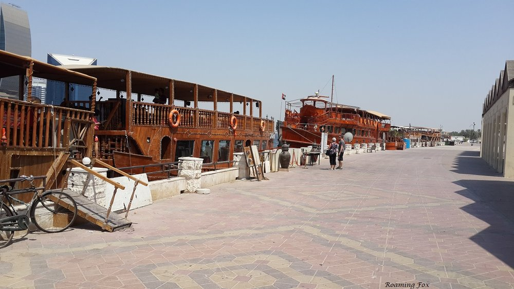Wooden dhows, a bit of a tourist trap