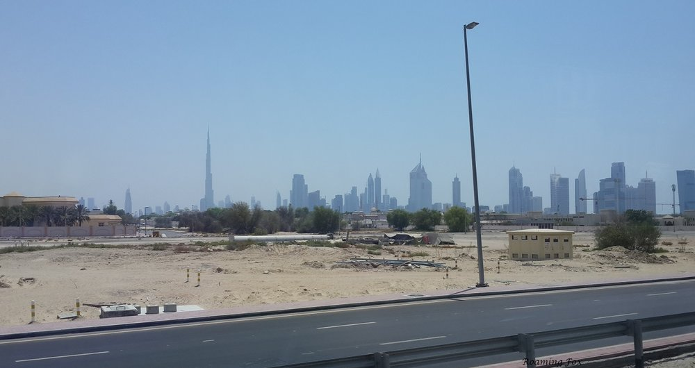 Dubai skyline - puts the Burj Khalifa into perspective