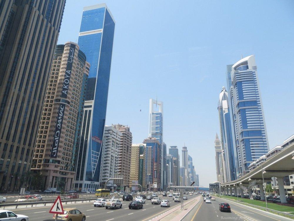 Traffic on Sheikh Zayed road