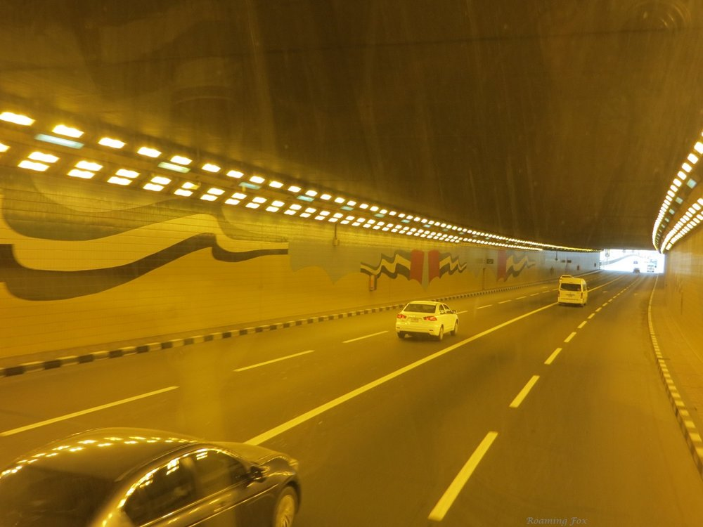 Driving through the tunnels