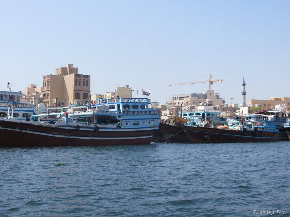 Dhows waiting to be loaded with cargo