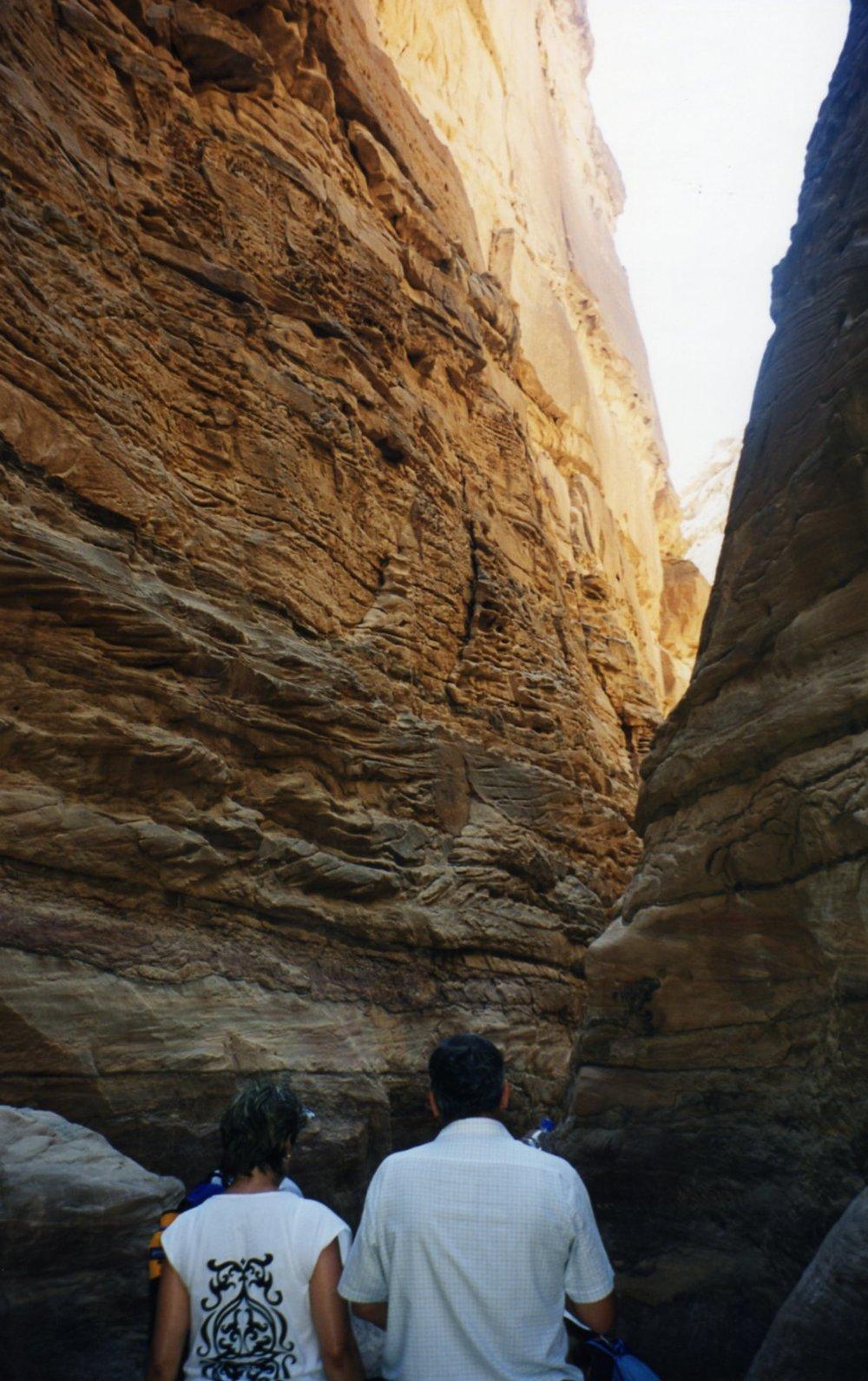 Squeezing through the canyon