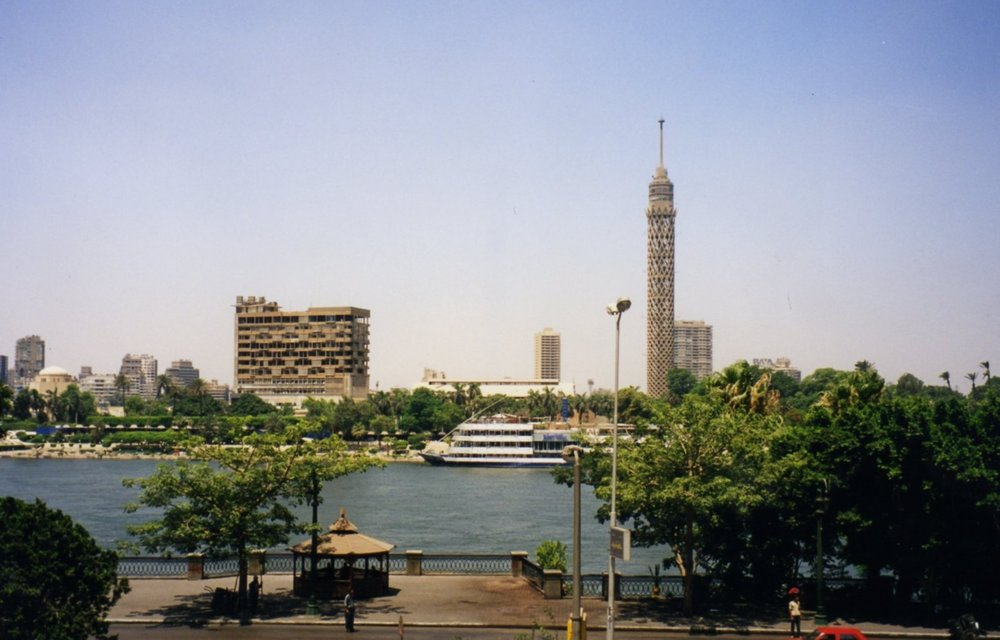 View from our hotel in Cairo
