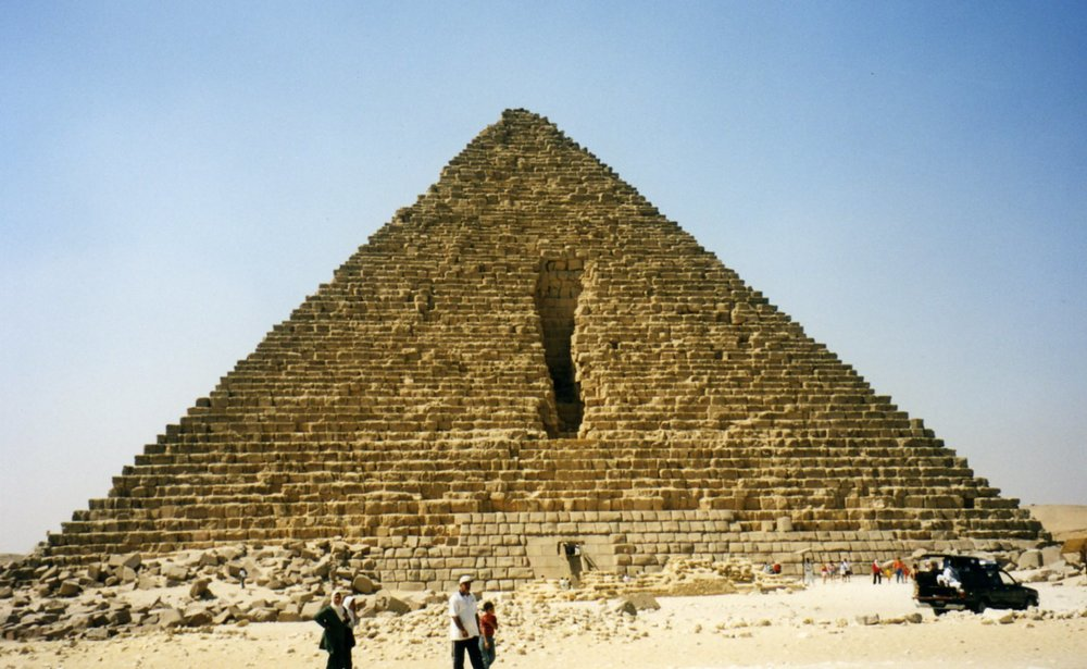 One of the smaller pyramids at Giza