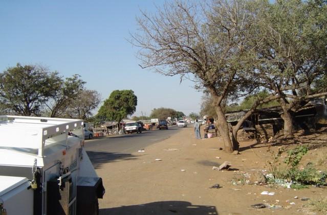 Mozambican side of the border at Recano Garcia