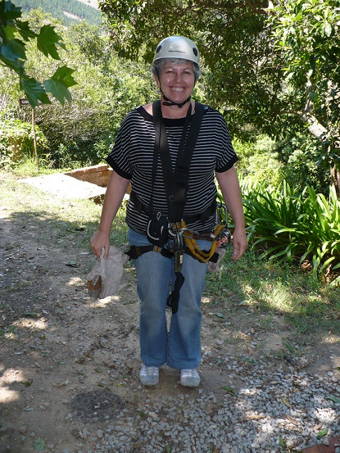 Kitted up with Harness, gloves and helmet Magoebaskloof zipline.JPG