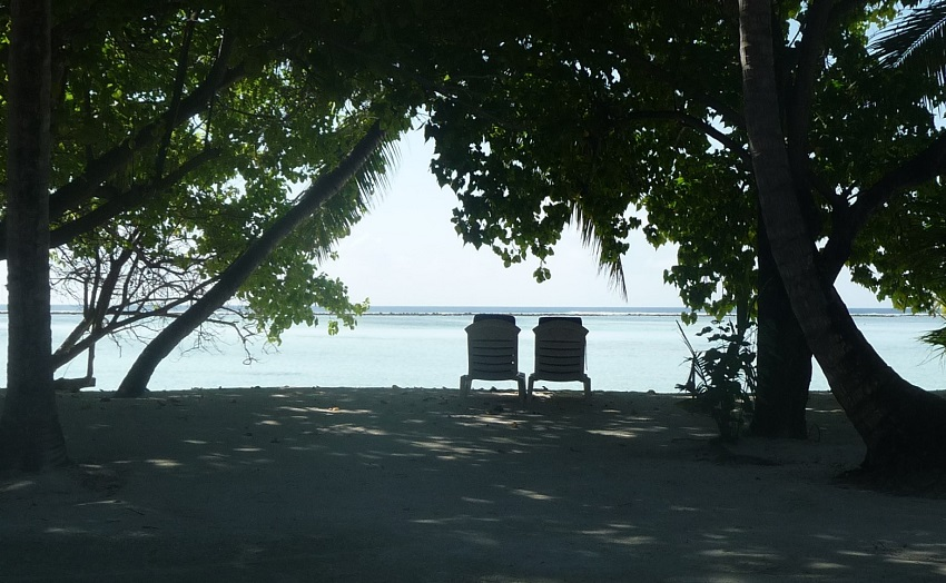 Our view and private beach