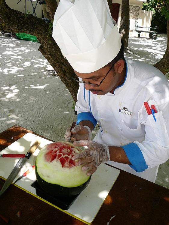 Fruit carving in progress Club Med Kani.JPG